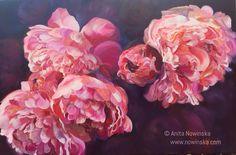 Petticoats - Pink Peonies, Flower Painting