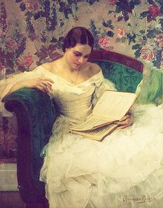 ✉ Biblio Beauties ✉ paintings of women reading letters & books - Herman Richir