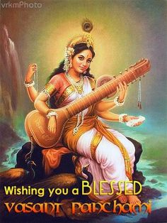 In Hinduism, Saraswati is the goddess of knowledge, music, arts and science. She is part of a Hindu trinity and also revered by the Jains. The Jains are a branch of Hinduism. Indian Goddess, Goddess Art, Sacred Feminine, Divine Feminine, Arte Krishna, Saraswati Goddess, Saraswati Mata, Religion, Divine Mother