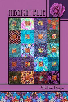 Midnight Blue quilt pattern by Pat Fryer, Villa Rosa Designs
