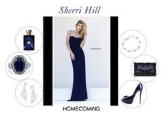 """Sherri Hill Homecoming Styles"" by freida-adams ❤ liked on Polyvore featuring Oscar de la Renta, Kate Spade, BERRICLE and Versace"