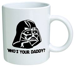 """Star Wars """"Who's Your Daddy""""? Father's Day Coffee Mug Collectible Novelty 11 Oz Nice Valentine Inspirational and Motivational Souvenir Diy Gifts For Men, Diy Gifts For Friends, Diy Gifts For Boyfriend, Gifts For Husband, Valentines Day Gifts For Him Creative, Valentines Day Gifts For Him Marriage, Valentine Gifts, Diy Wedding Reception, Diy Christmas Gifts"""