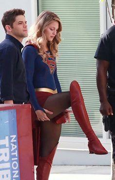 "Melissa Benoist as ""Supergirl"""