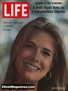Life Magazine July 24, 1970 : Cover - Activist actress Candice Bergen.