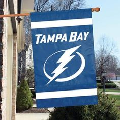 TAMPA BAY LIGHTNING 2-Sided Applique Banner Flag