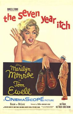 The Seven Year Itch (1955) directed Billy Wilder, stars Marilyn Monroe and Tom Ewell. Hilarious and Sweet movie.