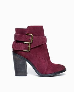 Emma Buckled Bootie. #shoes #women's shoes #women's fashion