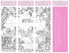 Come Home to Color Bookmark Set Printable — Debbie Macomber