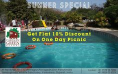 So here is the best deal from  #Vadodara #Baroda 's best resort... Caravan The Green Resort @Caravngreenresort presents  SUMMER SPECIAL Get flat 10% Discount on one day picnic. Book now. by barodamirror