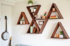 Diy Triangle Shelf Tutorial Instructions To Make A Single