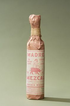 Madre Mezcal # Food and Drink logo bottle design Beverage Packaging, Bottle Packaging, Brand Packaging, Graphic Design Branding, Label Design, Identity Design, Packaging Design Inspiration, Graphic Design Inspiration, Types Of Packaging