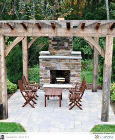 145 amazing outdoor fireplace designs images gardens outdoor rh pinterest com