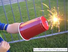 Sparkler Shield - protect your kids on #July4th  http://www.stockpilingmoms.com/2012/08/pinterest-daily-pin-sparkler-shield/