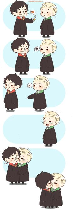 Chibi Drarry - Love you too by Cremebunny on DeviantArt