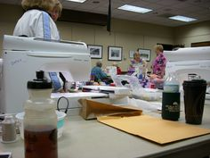 We had fun sewing and socializing.