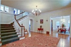 """Staircase and entry way from the house used in the movie """"Father of the Bride"""""""