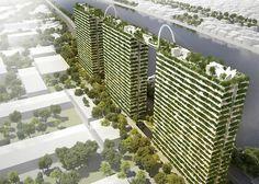 Der Gebäudekomplex besteht aus drei Hochhäusern mit jeweils 22 Etagen