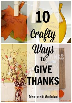 show your thanks this fall with ten creative ways to be thankful and give thanks. Create beautiful DIY crafts for fall and Thanksgiving Thanksgiving Crafts For Kids, Thanksgiving Activities, Crafts For Kids To Make, Thanksgiving Decorations, Crafts For Teens, Holiday Crafts, Art For Kids, Kids Diy, Happy Thanksgiving