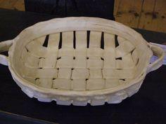 Stoneware Handbuilt Pottery Basket  www.etsy.com/shop/charbs26
