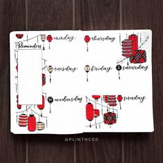 A complete oriental red lantern bullet journal theme for a whole month. From cover page, monthly spreads, weekly layouts, habit trackers and more. Bullet Journal Japan, Bullet Journal Contents, January Bullet Journal, Bullet Journal Quotes, Bullet Journal Cover Page, Bullet Journal Tracker, Bullet Journal Ideas Pages, Bullet Journal Spread, Bullet Journal Layout