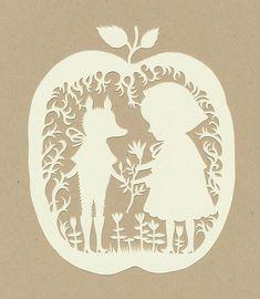 Red Riding Hood papercut: from Elsa Mora
