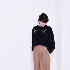 POUDOUDOU  STAFF COORDINATE ---------------------------------------------------- pull-over 4900tax pants 6900tax (staff model miura from oneline shop )  #poudoudou#pdd16aw