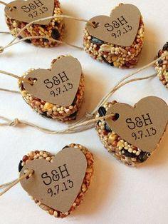 DIY Heart Bird Seed Wedding Favor