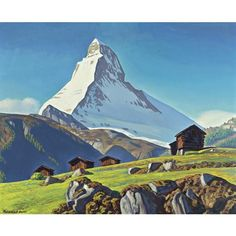 View The Matterhorn by Rockwell Kent on artnet. Browse upcoming and past auction lots by Rockwell Kent. Rockwell Kent, Norman Rockwell, Mountain Drawing, Mountain Art, Mountain Landscape, Landscape Art, Landscape Paintings, Landscapes, Zermatt