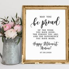 May You Be Proud Of The Work You Have Done Retirement | Etsy Retirement Celebration, Happy Retirement, Retirement Quotes, Retirement Cards, Jenga Guest Book, Guest Book Sign, Wedding Favours Sign, Wedding Signs, Wedding Bathroom Signs