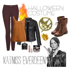 """""""Katniss"""" by joslynaurora ❤ liked on Polyvore featuring Sam Edelman, Topshop, Fat Face, SELECTED, Chanel, Ilia and Ela Stone"""