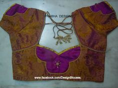 Aari Embroidery classes by Prabhas Designs: Designer Blouses Blouse Pattern Free, Blouse Neck Patterns, Blouse Back Neck Designs, Sari Blouse Designs, Fancy Blouse Designs, Designer Blouse Patterns, Blouse Styles, Blouse Desings, Patch Work Blouse Designs