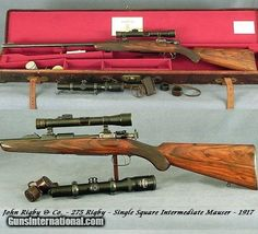 RIGBY 275 (7 X57 Mauser)- SGL SQUARE BRIDGE INTERMEDIATE MAUSER- BUILT in 1917-