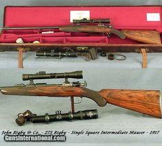 RIGBY 275 (7 X57 Mauser)- SGL SQUARE BRIDGE INTERMEDIATE MAUSER- BUILT in 1917-