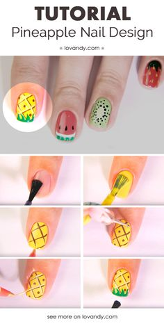 How To Do Pineapple Nails
