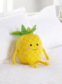 Hiccups at Simons Maison  A playful touch to liven up the kids' room! We love the happy little pineapples with cute rosy cheeks and a crown-like top.    Soft plush in polyester fibre   Easy machine-care