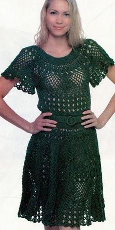 Ivelise Feito à Mão: Vestido Lindo Em Crochê