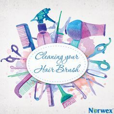 Easy steps to clean your hairbrush and remove all the messy hair and dirt!