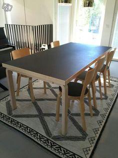 artek table 83 black linoleum