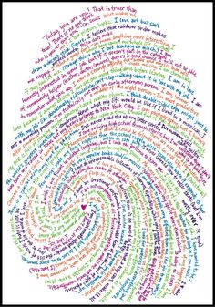 I finished my thumbprint biography! (There is a special kind of satisfaction in actually completing projects found on Pinterest....)