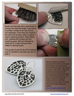 Using Styrofoam To Texture Metal Clay (4PAM_7) - crafthaus