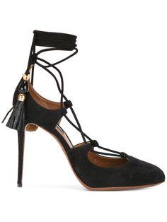 a9b35a3c2 Compre Dolce & Gabbana Salto com amarração. Saltos, Estiletes Pretos, Sapatos  Pretos,
