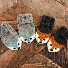 Fox mittens Ravelry: Fox mittens pattern by Eva Norum Olsen Record of Knitting String rotating, weaving and stitching jobs such as f. Baby Mittens Knitting Pattern, Knitting Baby Girl, Knit Mittens, Fingerless Mittens, Knitting For Kids, Knitting Socks, Crochet Baby, Knit Crochet, Free Knitting