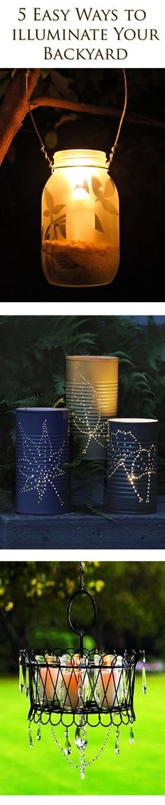Summer Is Almost Here...how About These Awesome Diy Backyard Lighting Ideas? light idea, garden light, diy backyard lighting, awesom diy, backyard lighting ideas diy, backyard ideas diy patio, diy backyard lights, backyard lighting diy, diy garden