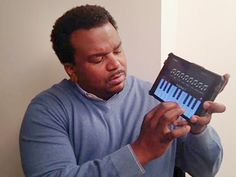 Tickling the tech ivories: Craig Robinson rocks out on iPad piano