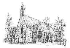 sketch wedding church - Google Search