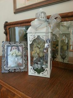 Make one special photo charms for you, 100% compatible with your Pandora bracelets. Fun idea for displaying dried flowers from my daughter's wedding bouquet. The photo charms hanging on the front hold the wedding pictures of her grandparents and parents. They were originally attached to the bouquet.