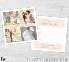 Save the date template for photographers save the by salsaldesign photography gift certificate wedding photography photoshop template photography gift card template blush yadclub Images