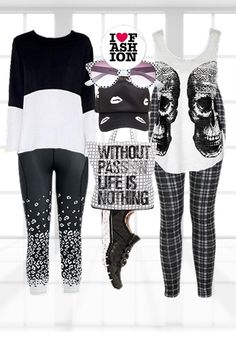 My Black & White #Yoga #Outfit Collage  #Fashion #Workout #SAB #Styelabelle #B&W