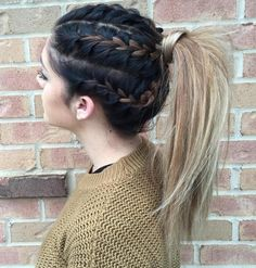 Braids Into Ponytail For Long Hair