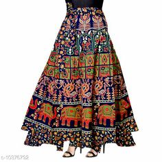 Skirts Women Cotton Casual Multicolor Long Wrap Around Skirt Fabric: Cotton Pattern: Printed Multipack: 1 Sizes:  Free Size (Waist Size: 38 in Length Size: 40 in Hip Size: 44 in) Country of Origin: India Sizes Available: Free Size, 26, 28, 30, 32, 34, 36, 38, 40, 42, 44, 46 *Proof of Safe Delivery! Click to know on Safety Standards of Delivery Partners- https://ltl.sh/y_nZrAV3  Catalog Rating: ★3.9 (1585)  Catalog Name: Alisha Fabulous Women Ethnic Skirts CatalogID_1887661 C79-SC1040 Code: 082-10376792-